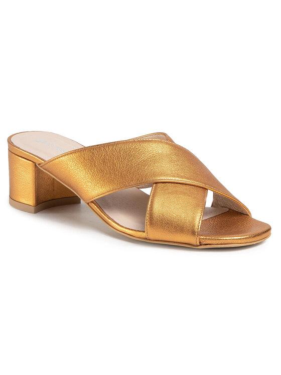 Klapki Aya DLH445-Y02-9S00-0030-S kolor Złoty kod 0000207190740 1