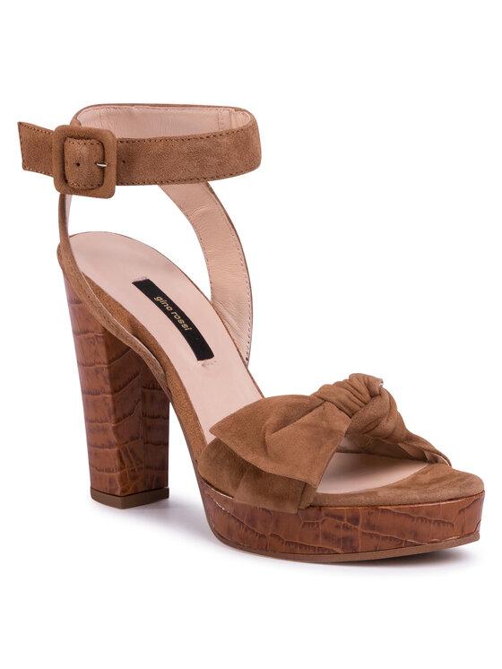 Sandały A45185-02 kolor Brązowy kod 5903419334863 1