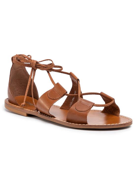 Sandały DN548N-TWO-KG00-2500-P kolor Brązowy kod 0000207025523 1