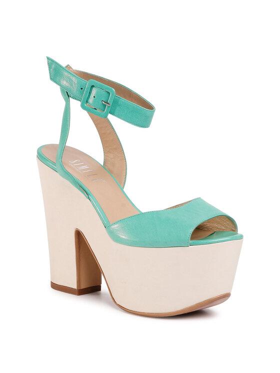 Sandały DN550N-TWO-BGBG-4331-0 kolor Zielony kod 0000207226296 1