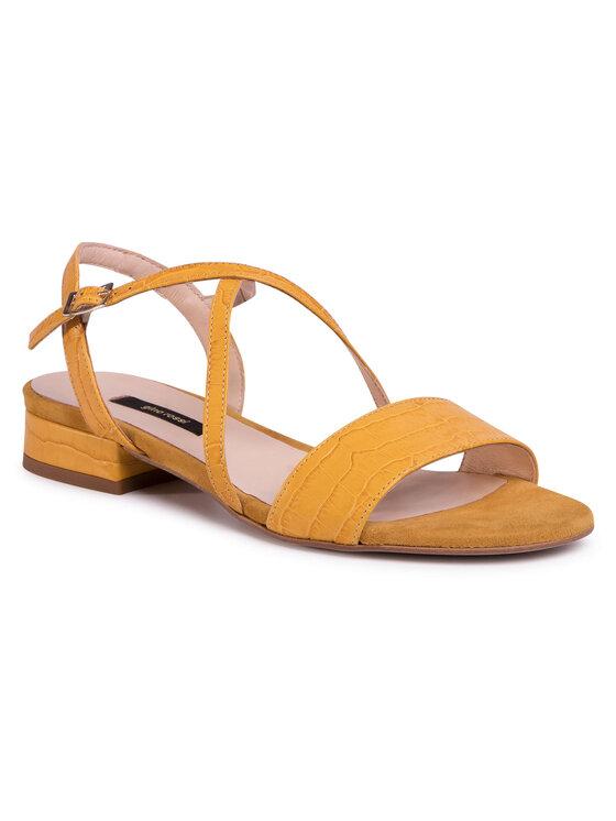Sandały A45160 kolor Żółty kod 5903419243240 1